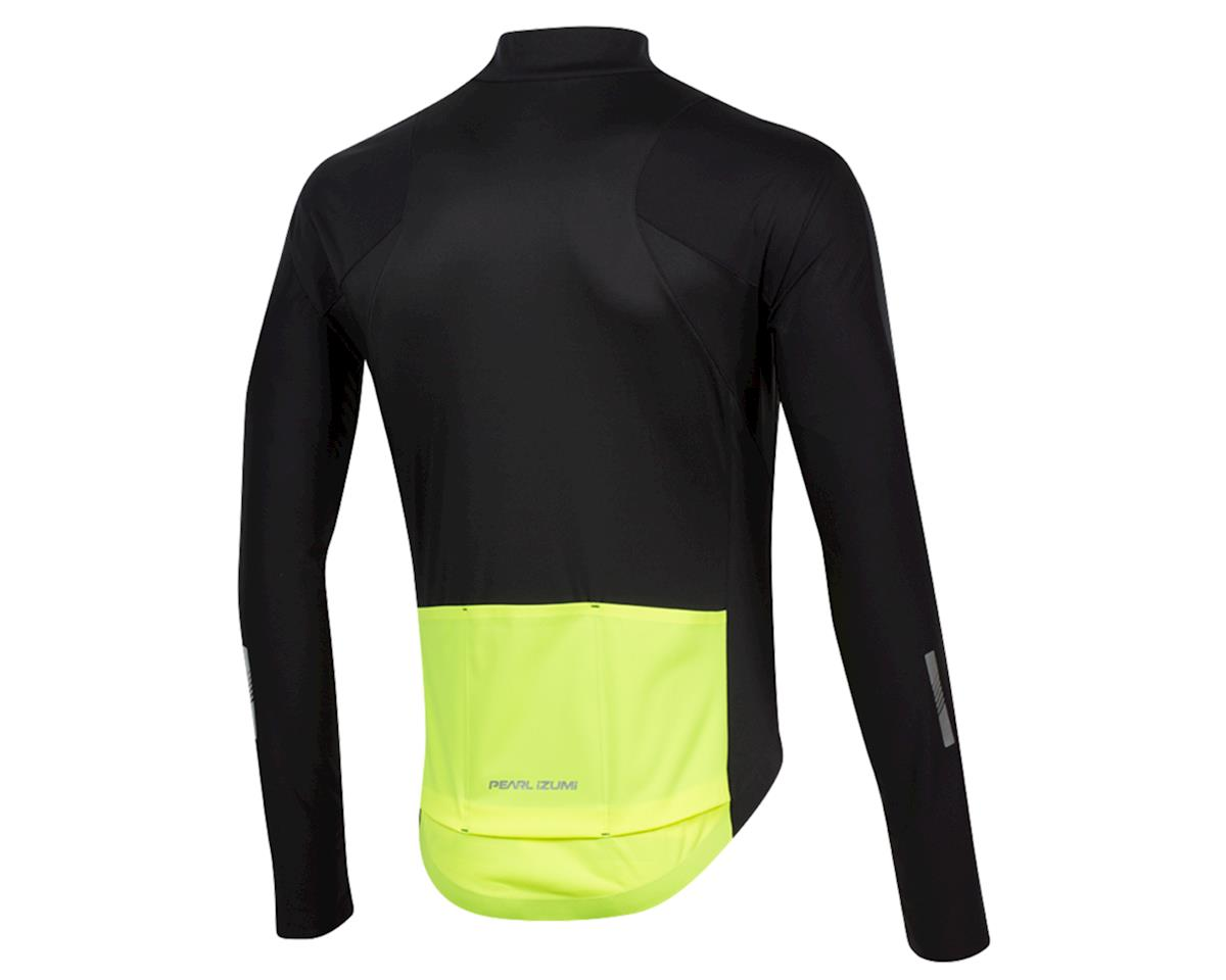 Pearl Izumi PRO Pursuit Long Sleeve Wind Jersey (Black/Screaming Yellow) (S)