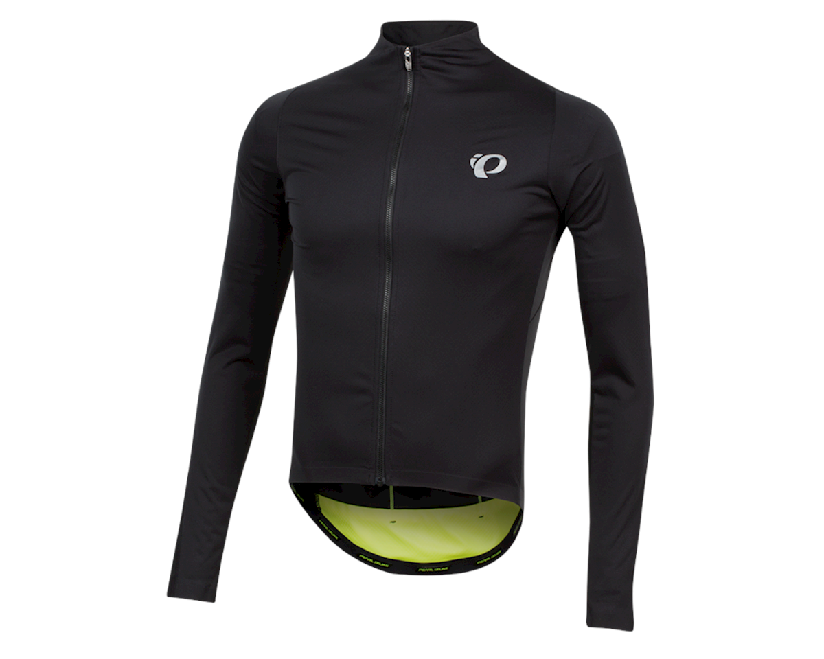 Pearl Izumi PRO Pursuit Long Sleeve Wind Jersey (Black/Screaming Yellow) (2XL)