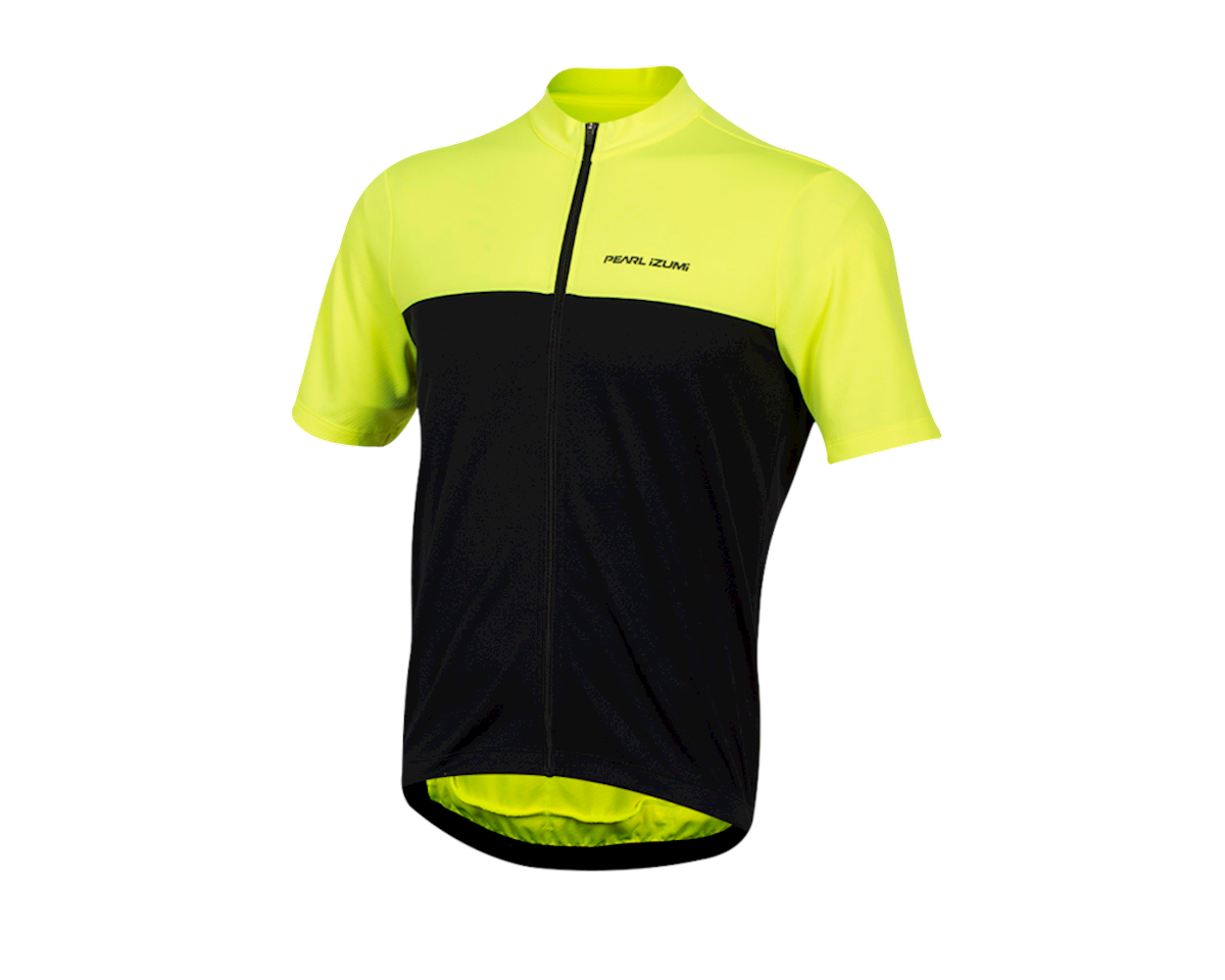 Pearl Izumi Quest Short Sleeve Jersey (Screaming Yellow/Black) (2XL)
