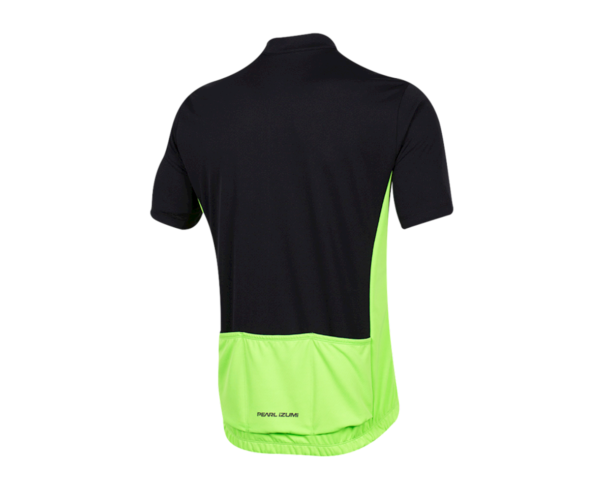 Pearl Izumi Quest Short Sleeve Jersey (Black/Screaming Green) (2XL)