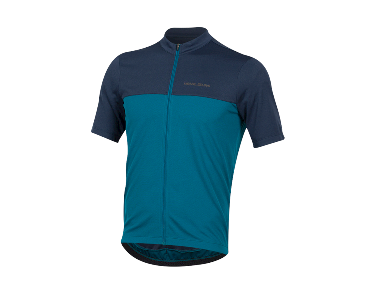 Pearl Izumi Quest Short Sleeve Jersey (Navy/Teal) (L)