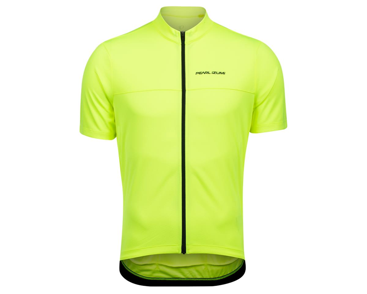 Pearl Izumi Quest Short Sleeve Jersey (Screaming Yellow/Phantom) (M)