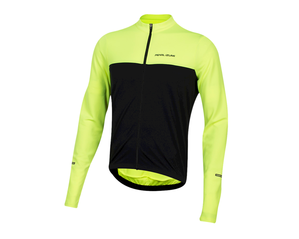 Pearl Izumi Quest Long Sleeve Jersey (Screaming Yellow/Black) (L)