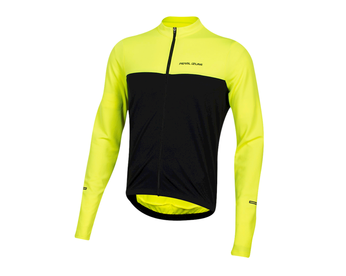 Pearl Izumi Quest Long Sleeve Jersey (Screaming Yellow/Black) (XS)