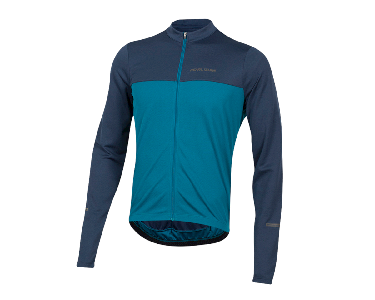 Pearl Izumi Quest Long Sleeve Jersey (Navy/Teal) (M)