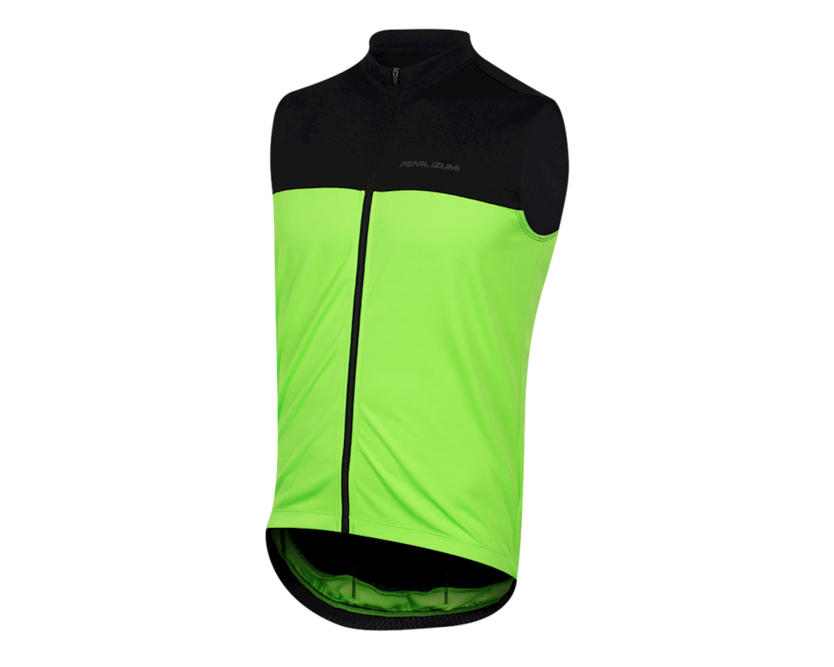 Pearl Izumi Quest Sleeveless Jersey (Black/Screaming Green)