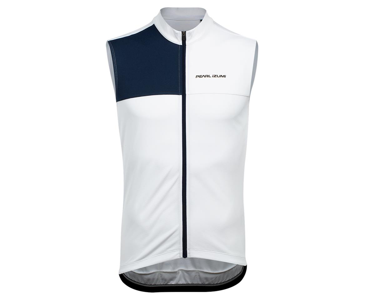 Image 1 for Pearl Izumi Quest Sleeveless Jersey (White/Navy) (M)