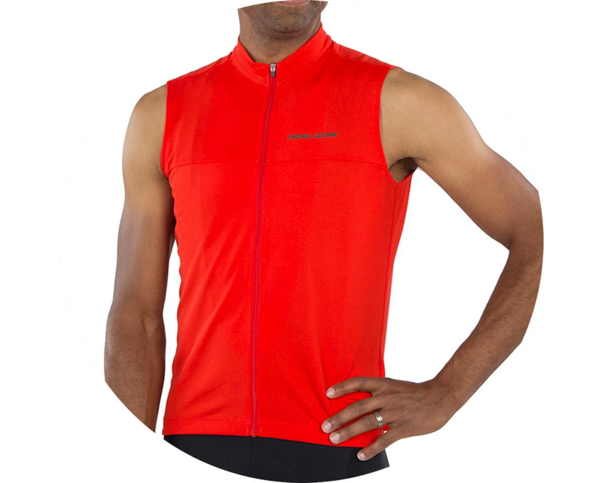 Pearl Izumi Quest Sleeveless Jersey (Torch Red) (XL)