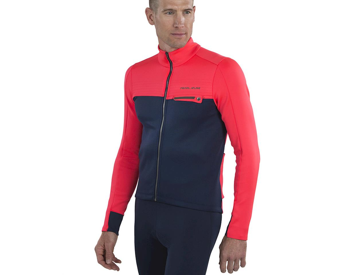 Image 3 for Pearl Izumi Interval Thermal Jersey (Atomic Red/Navy) (S)