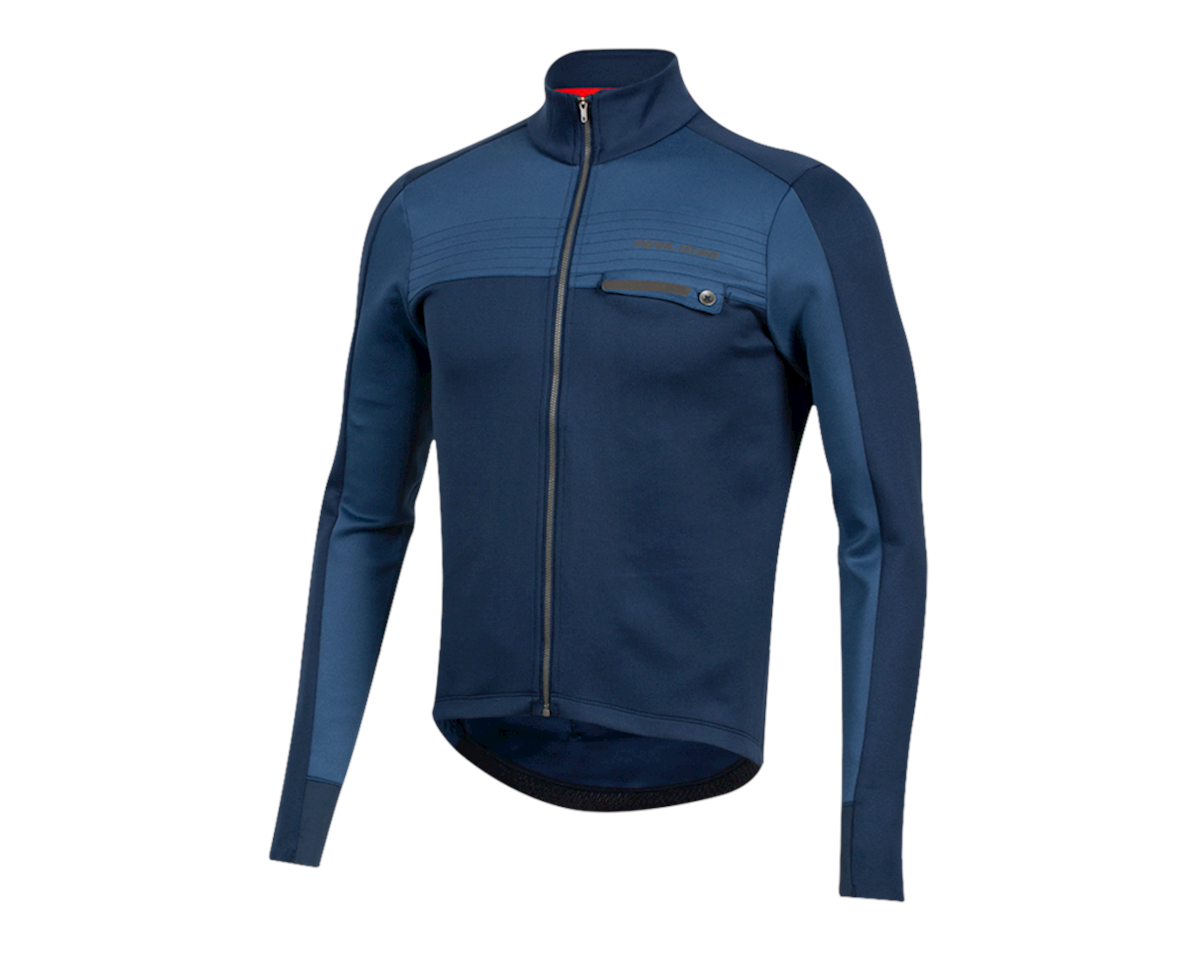 Image 1 for Pearl Izumi Interval Thermal Jersey (Navy/Dark Denim) (S)