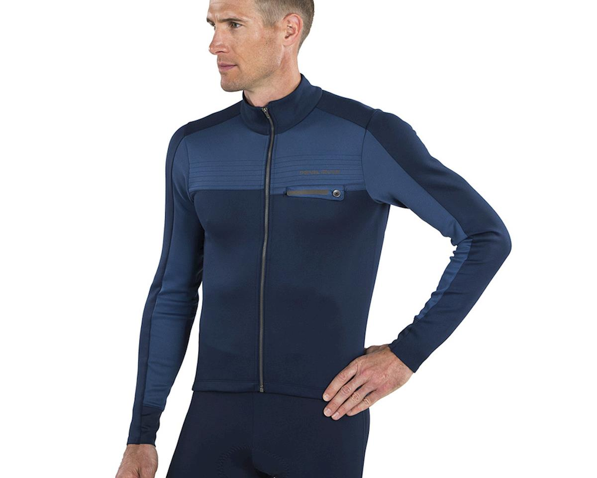 Image 3 for Pearl Izumi Interval Thermal Jersey (Navy/Dark Denim) (S)