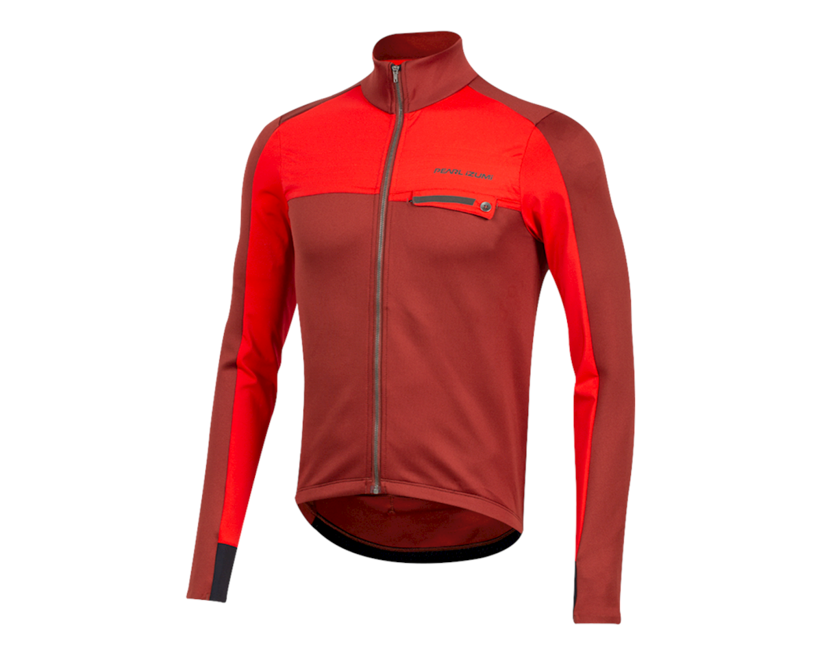 Image 1 for Pearl Izumi Interval Thermal Jersey (Russet/Torch Red) (M)