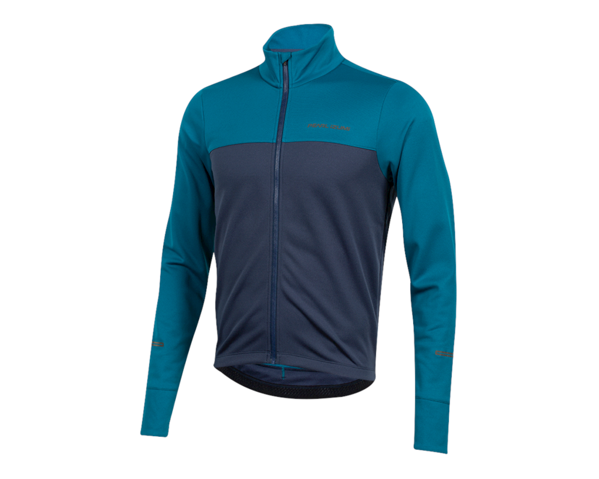 Image 1 for Pearl Izumi Quest Thermal Jersey (Teal/Navy) (M)