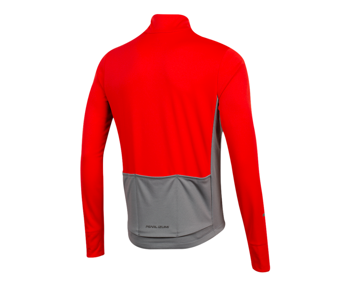 Image 2 for Pearl Izumi Quest Thermal Jersey (Torch Red/Smoked Pearl) (XL)