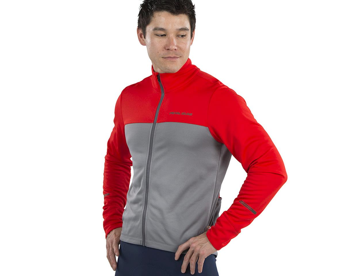 Image 3 for Pearl Izumi Quest Thermal Jersey (Torch Red/Smoked Pearl) (XL)