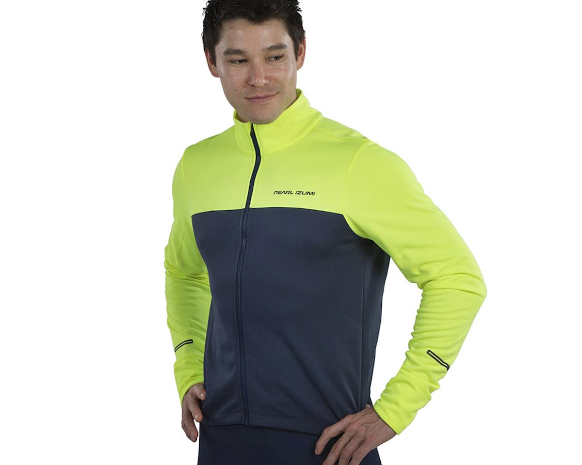 Pearl Izumi Quest Thermal Jersey (Screaming  Yellow/Navy) (L)