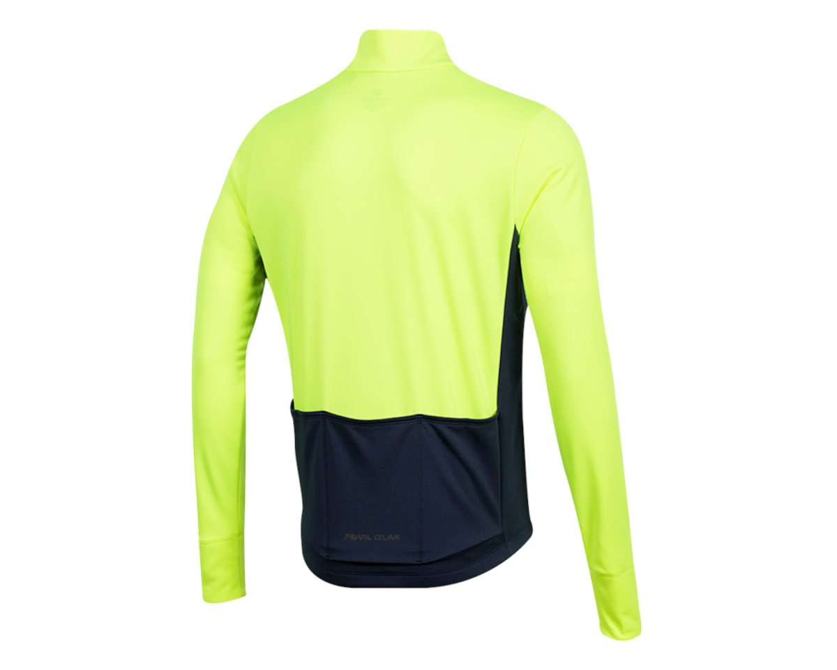 Pearl Izumi Quest Thermal Jersey (Screaming  Yellow/Navy) (S)