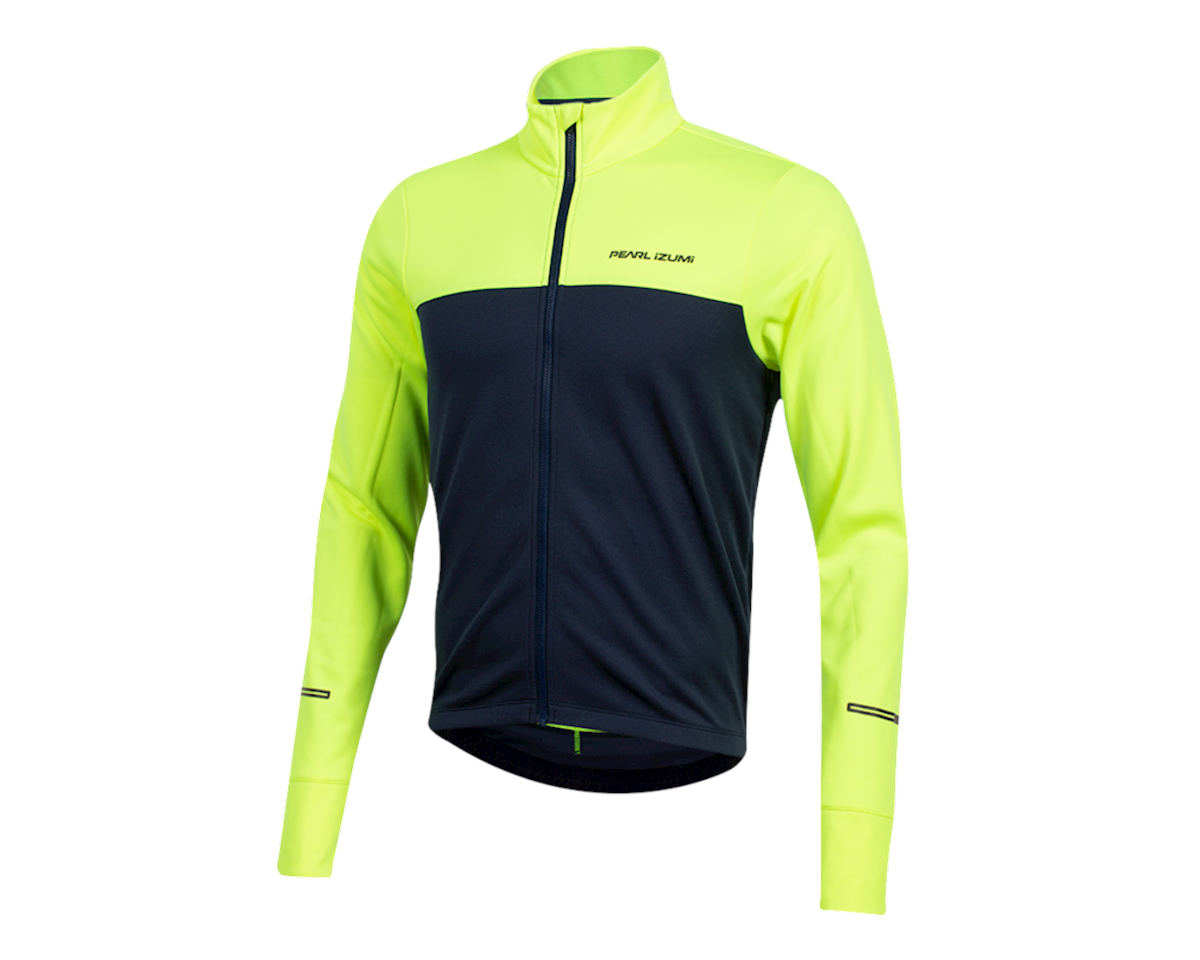 Pearl Izumi Quest Thermal Jersey (Screaming  Yellow/Navy) (XL)
