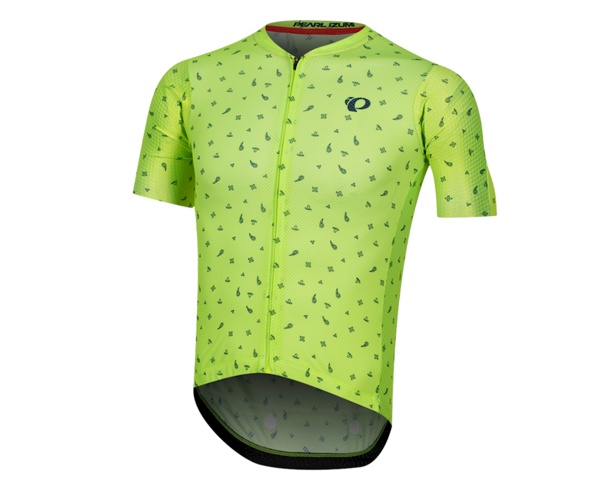 Pearl Izumi Pro Mesh Jersey (Screaming Yellow/Navy Paisley) (L)