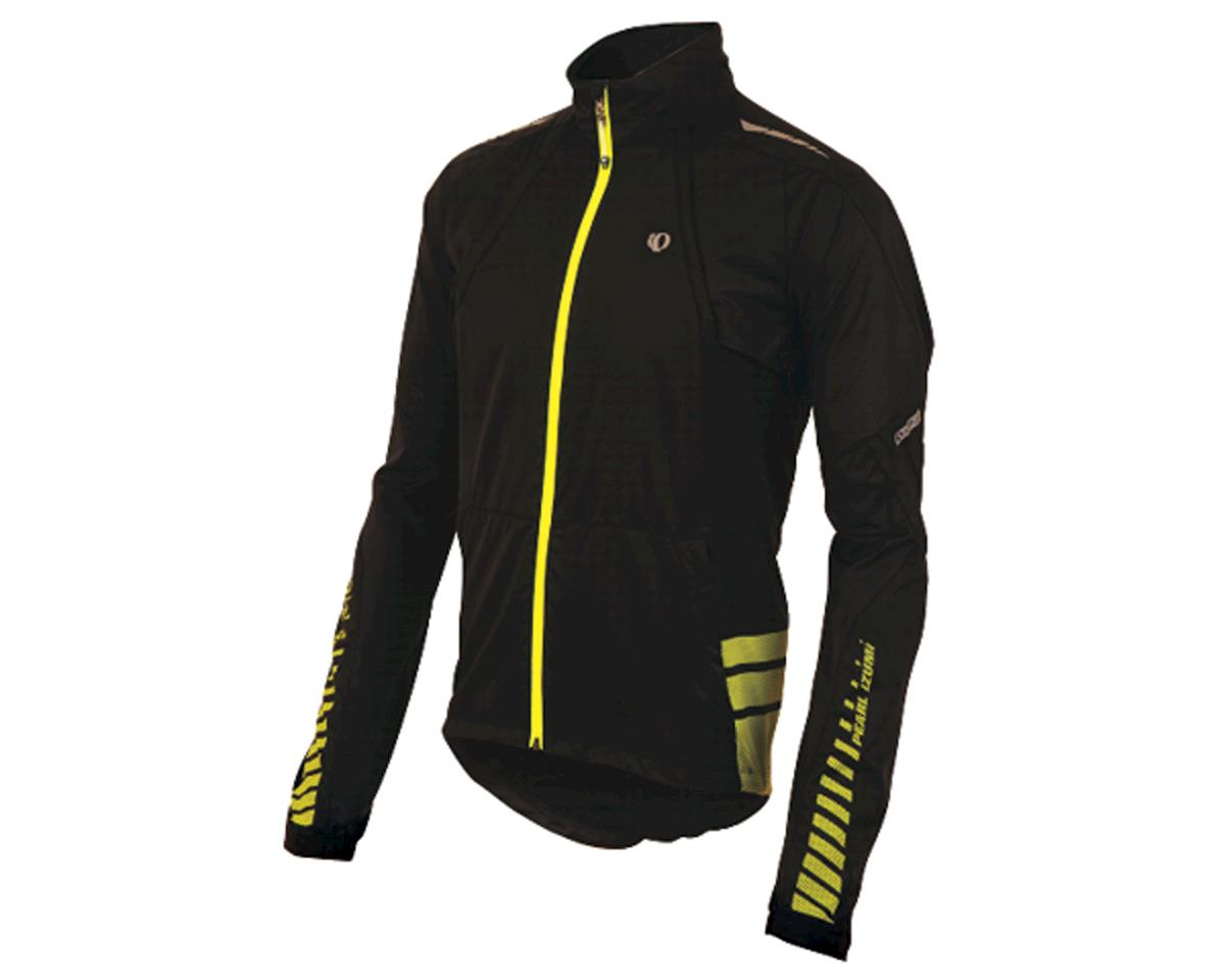 Pearl Izumi Elite Barrier Convertble Jacket: Black/Yellow~ Lg