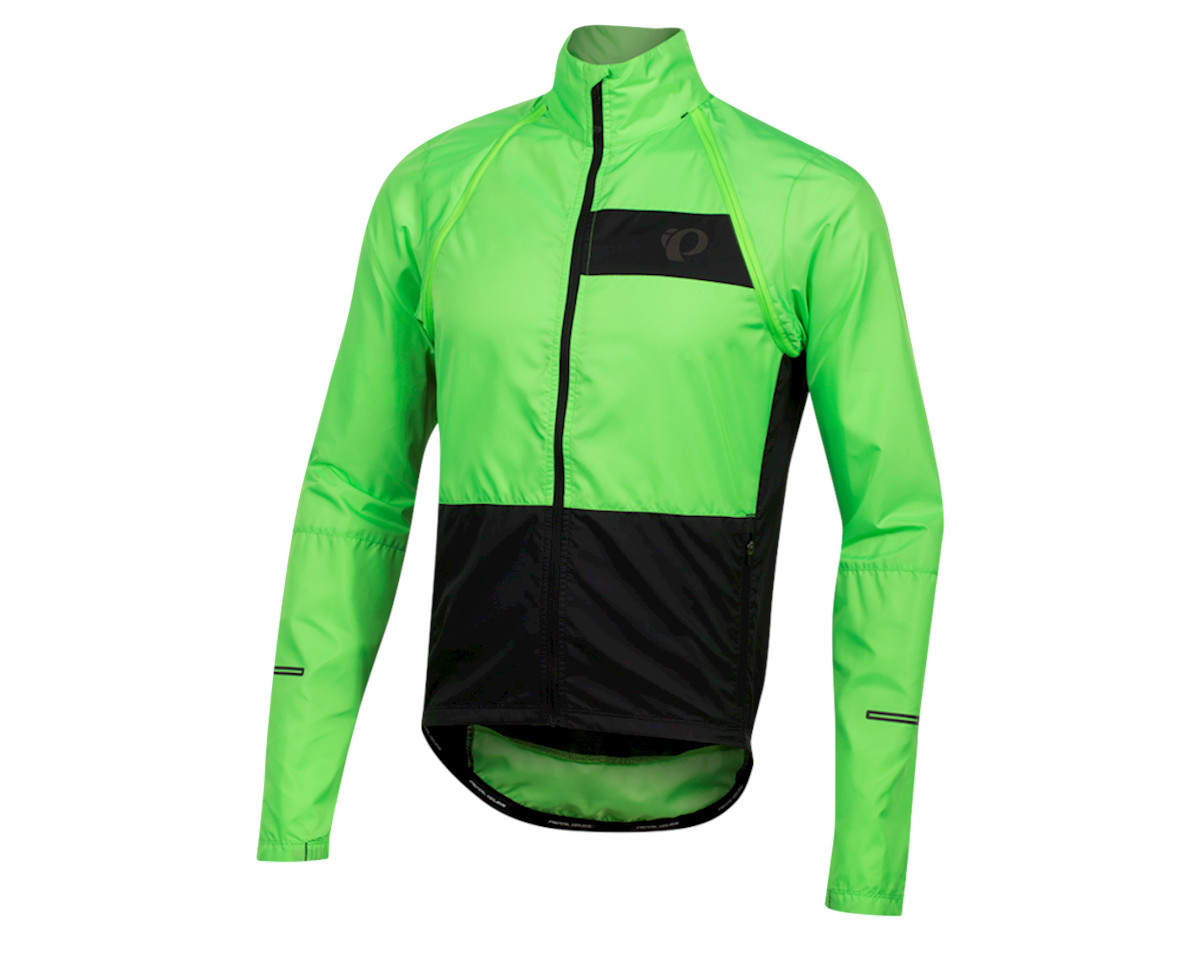 Pearl Izumi Elite Escape Convertible Jacket (Screaming Green/Black) (M)