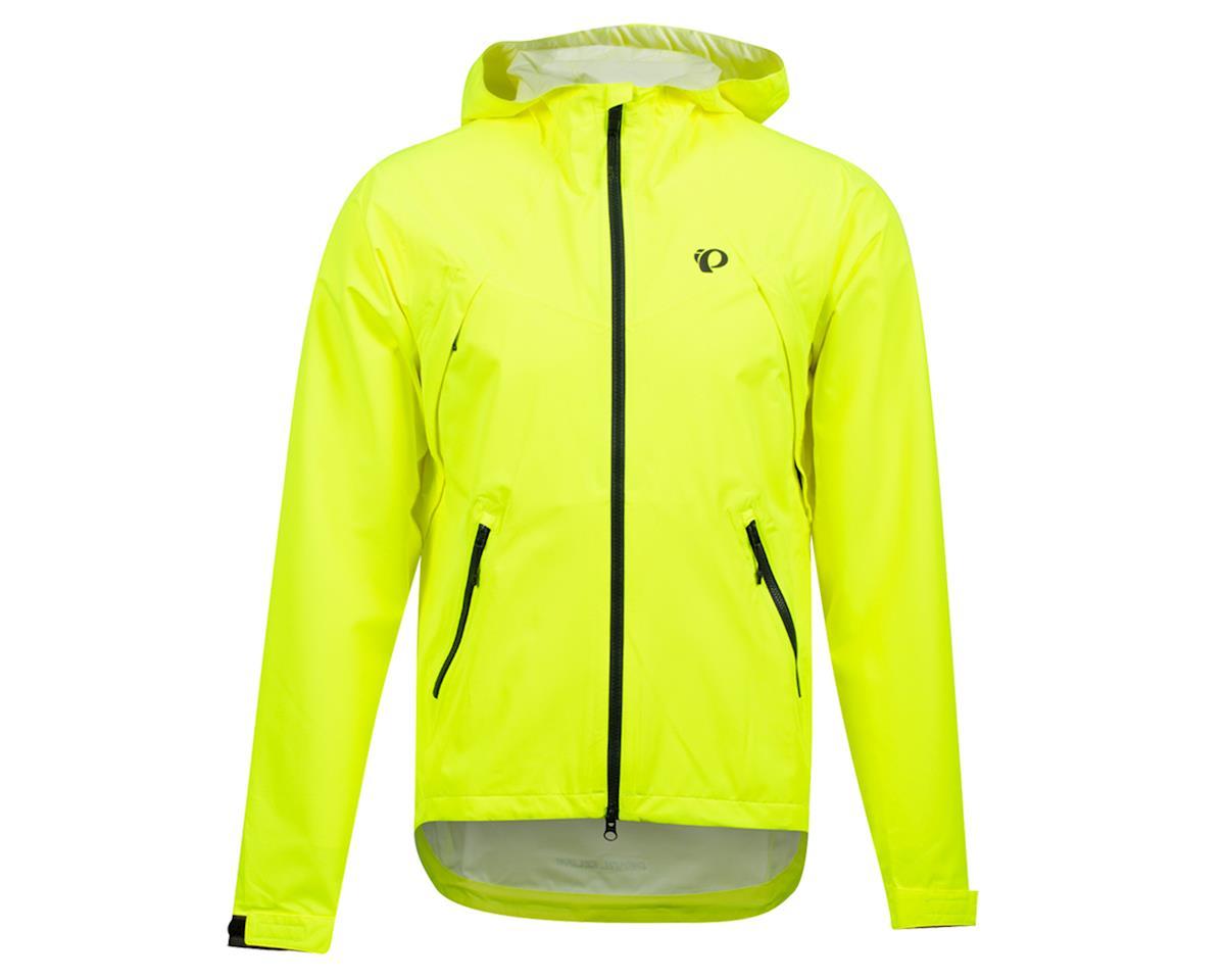Image 1 for Pearl Izumi Monsoon WXB Hooded Jacket (Screaming Yellow/Phantom) (XL)