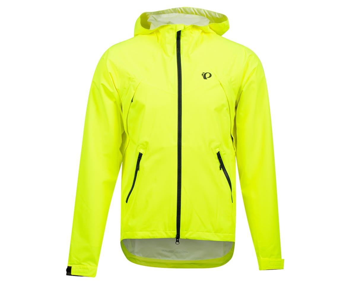 Image 1 for Pearl Izumi Monsoon WXB Hooded Jacket (Screaming Yellow/Phantom) (2XL)
