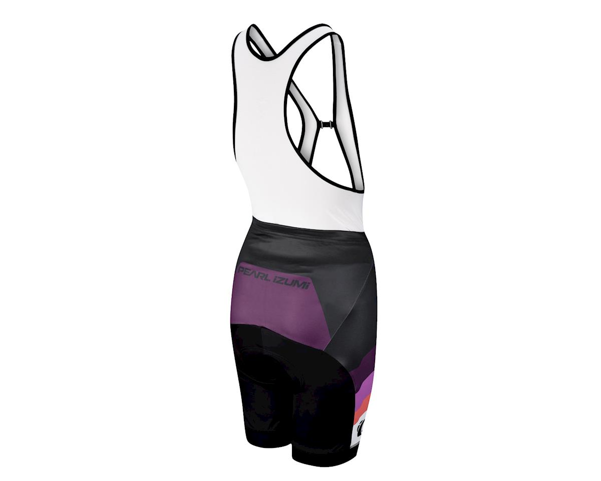 Pearl Izumi Women's Elite LTD Team PI Meadow Mauve Drop Tail Bib Shorts (Black/Purple)