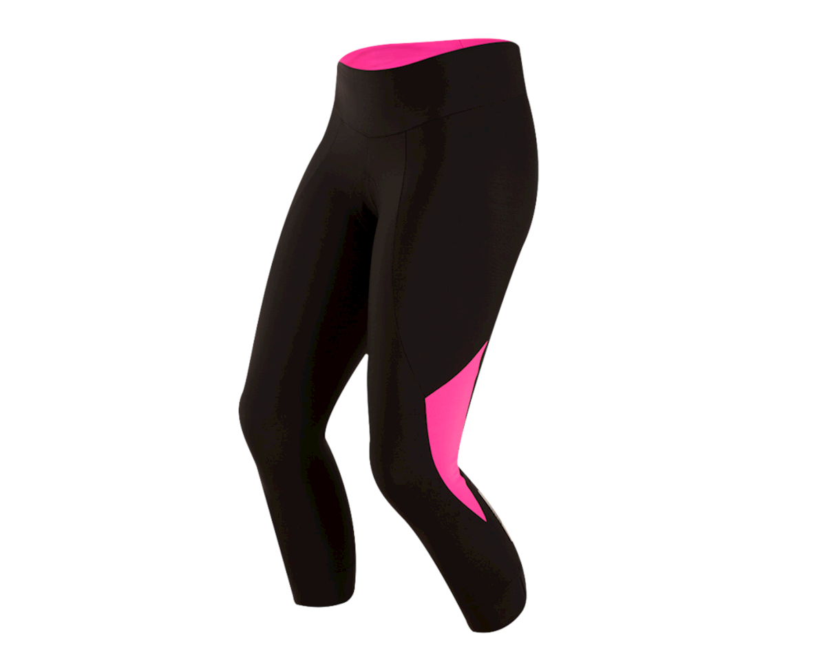 Pearl Izumi Women's Select Pursuit 3/4 Tight (Black/Screaming Pink) (L)