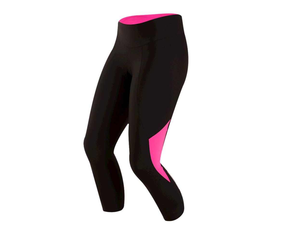 Pearl Izumi Women's Select Pursuit 3/4 Tight (Black/Screaming Pink) (XL)