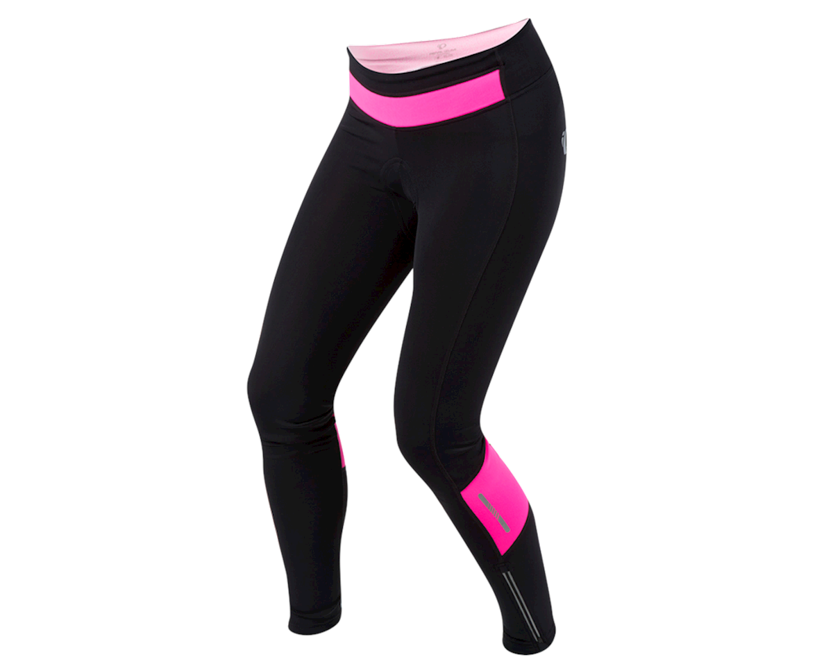 Pearl Izumi Women's Pursuit Cycle Thermal Tight (Black/Screaming Pink) (2XL)