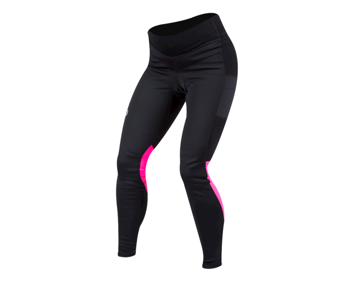 Pearl Izumi Women's Elite Escape Amfib Cycle Tight (Black/Screaming Pink)