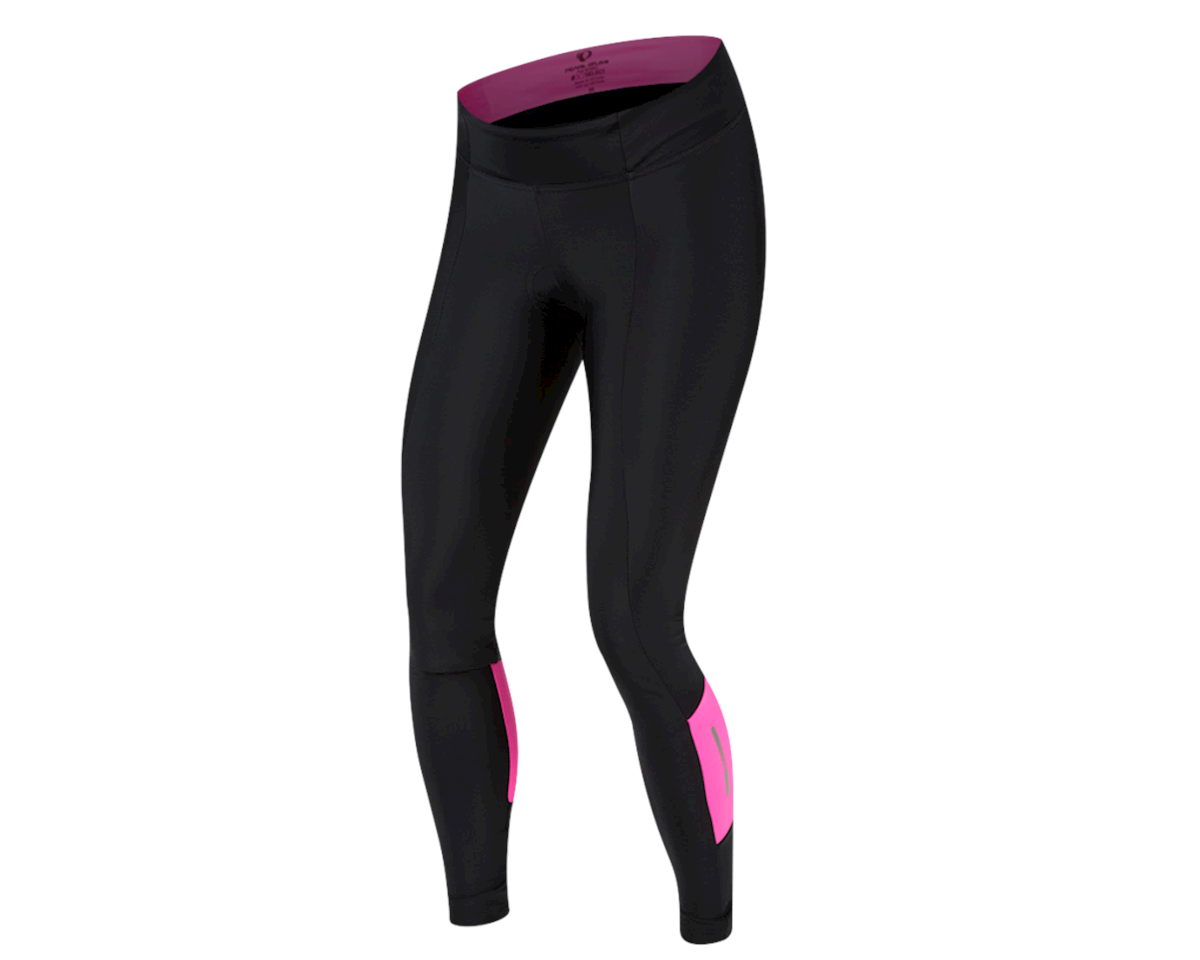 Pearl Izumi Women's Pursuit Attack Cycle Tight (Black/Screaming Pink) (2XL)