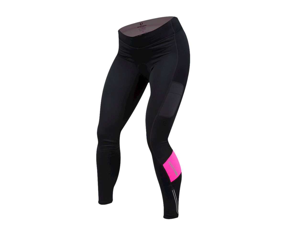 Pearl Izumi Women's Escape Sugar Thermal Cycle Tight (Black/Screaming Pink) (2XL)