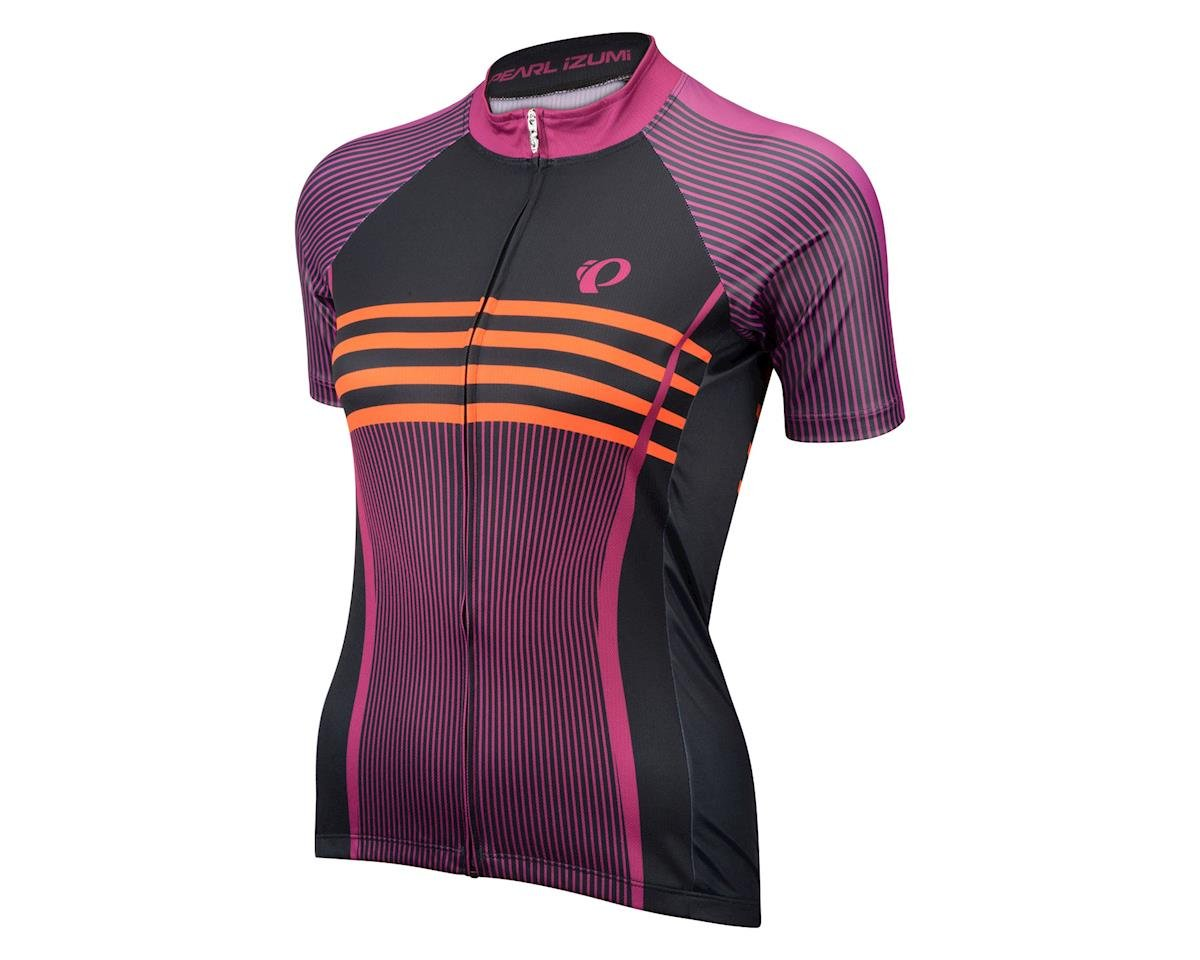 Image 1 for Pearl Izumi Women's Elite Pursuit LTD Short Sleeve Jersey (Black/Purple) (Large)