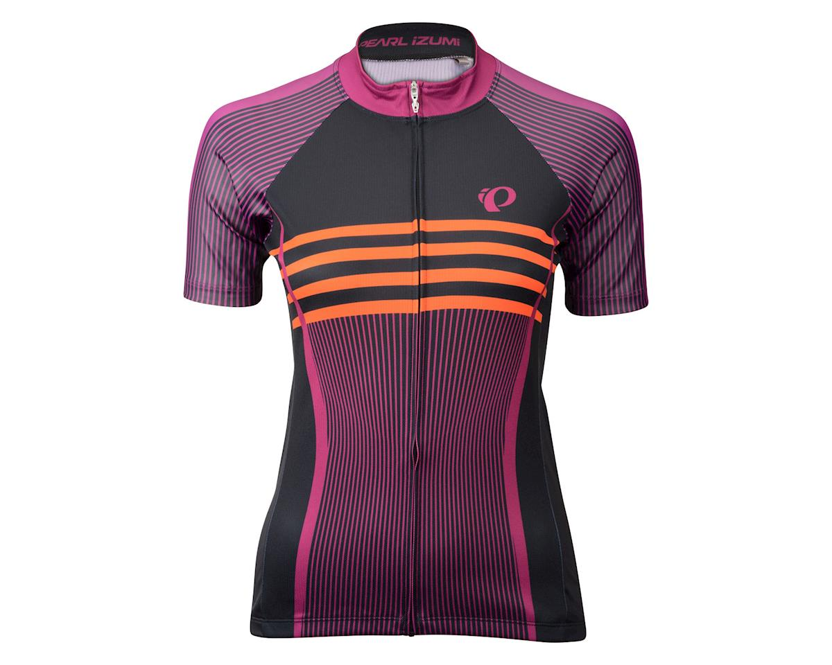 Image 3 for Pearl Izumi Women's Elite Pursuit LTD Short Sleeve Jersey (Black/Purple) (Large)