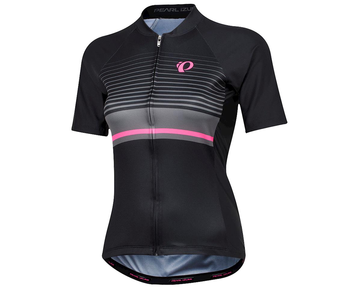 Pearl Izumi Women's Elite Pursuit Short Sleeve Jersey (Black/ Smoked Pearl Flux)