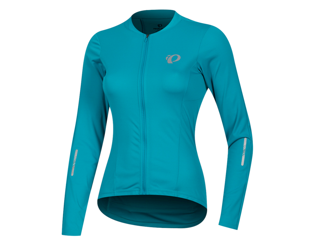 Pearl Izumi Women's Select Pursuit Long Sleeve Jersey (Breeze/Teal) (L)