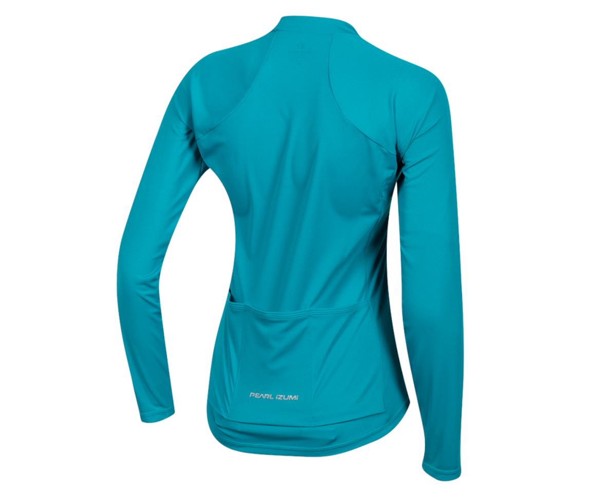 Image 2 for Pearl Izumi Women's Select Pursuit Long Sleeve Jersey (Breeze/Teal) (S)