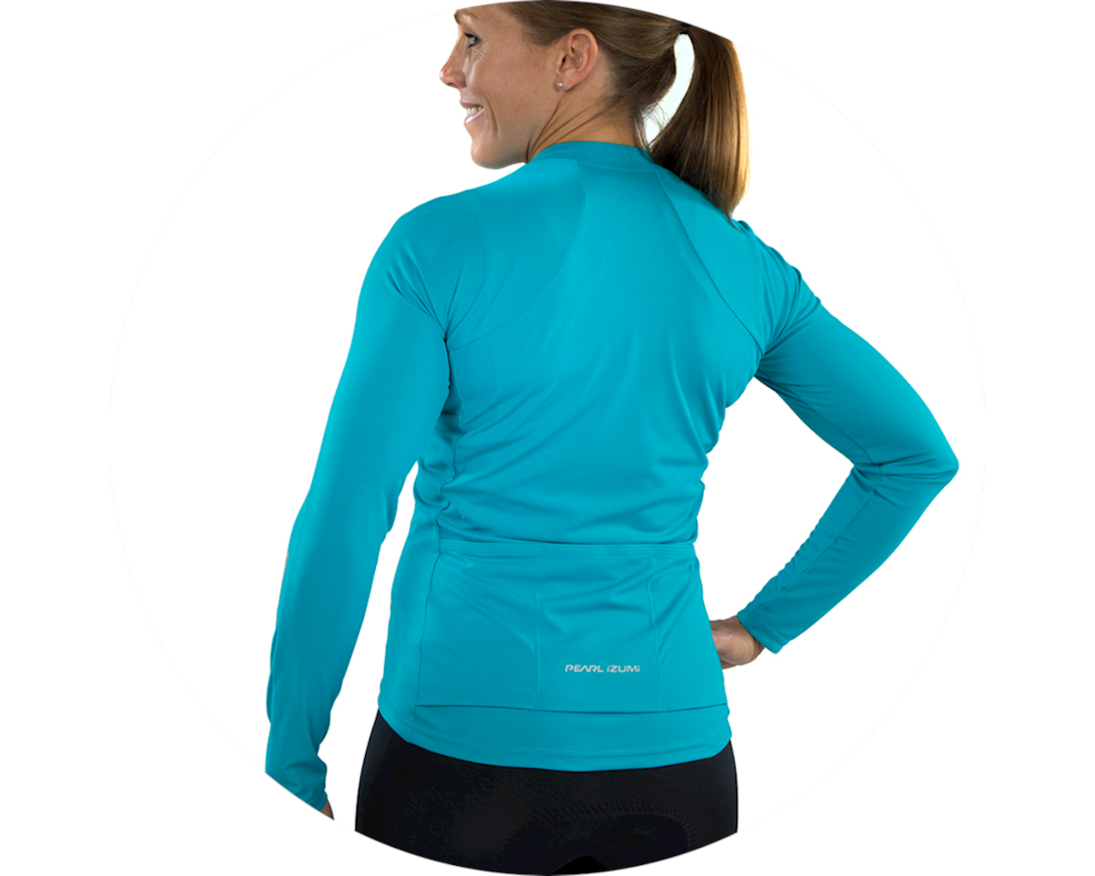 Image 3 for Pearl Izumi Women's Select Pursuit Long Sleeve Jersey (Breeze/Teal) (S)