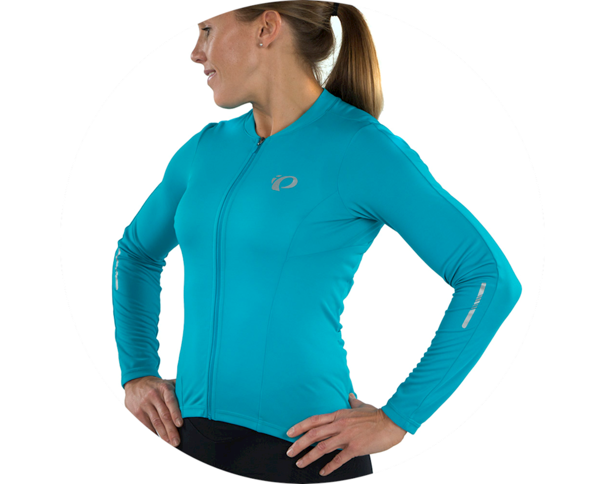 Image 4 for Pearl Izumi Women's Select Pursuit Long Sleeve Jersey (Breeze/Teal) (S)