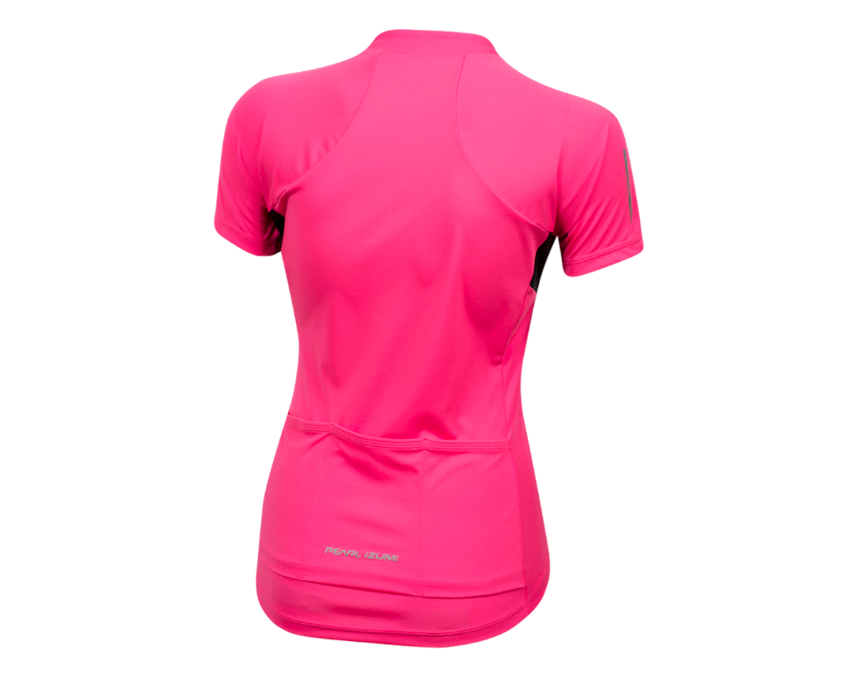 Pearl Izumi Women's Select Pursuit Short Sleeve Jersey (Screaming Pink/Black) (M)