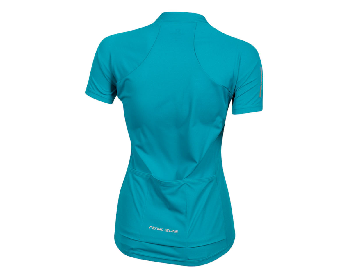 Image 2 for Pearl Izumi Women's Select Pursuit Short Sleeve Jersey (Breeze/Teal) (L)