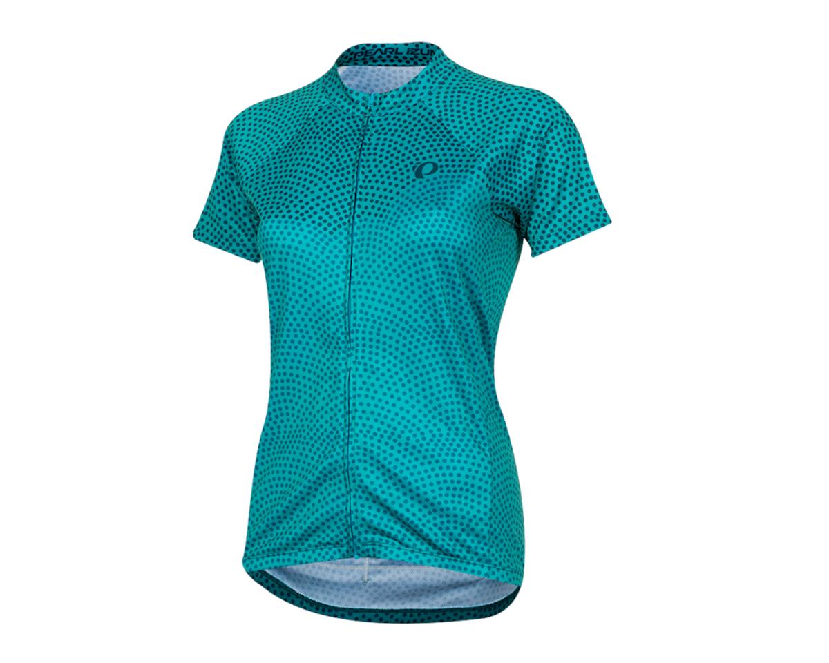 Pearl Izumi Women's Select Pursuit Short Sleeve Jersey (Breeze/Teal Kimono) (L)