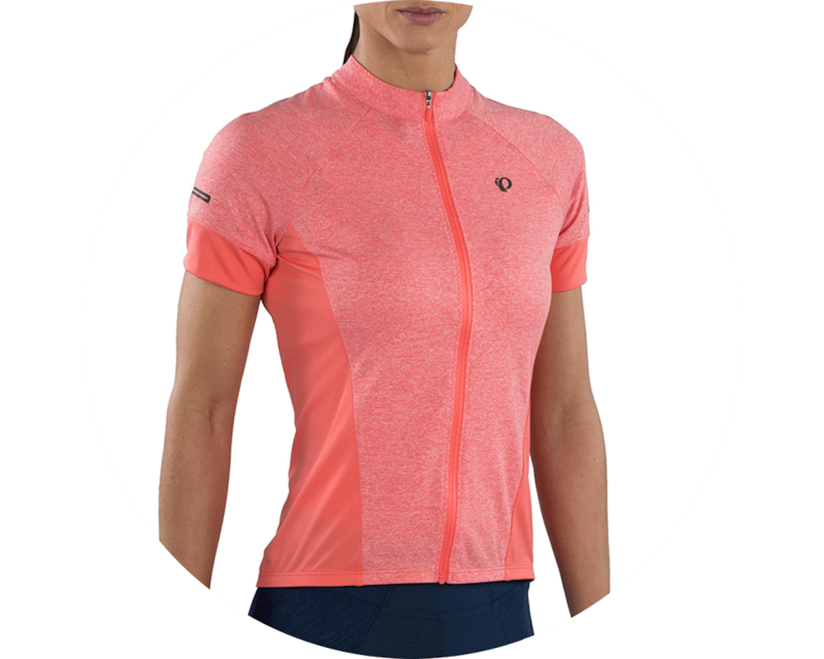 Pearl Izumi Women's Select Escape Short Sleeve Jersey (Sugar Coral/Peach) (XS)