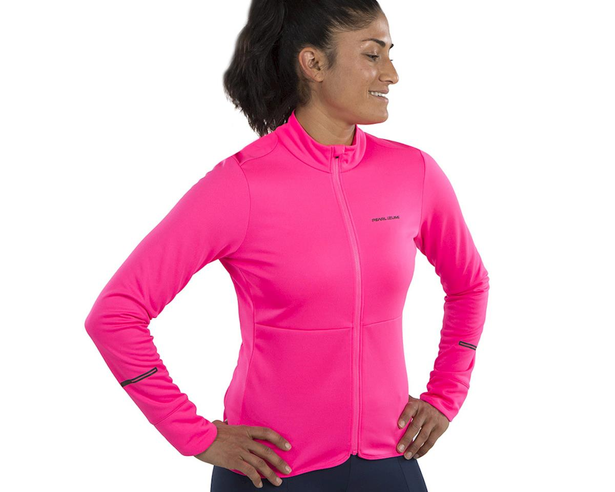 Image 3 for Pearl Izumi Women's Quest Thermal Jersey (Screaming Pink) (M)