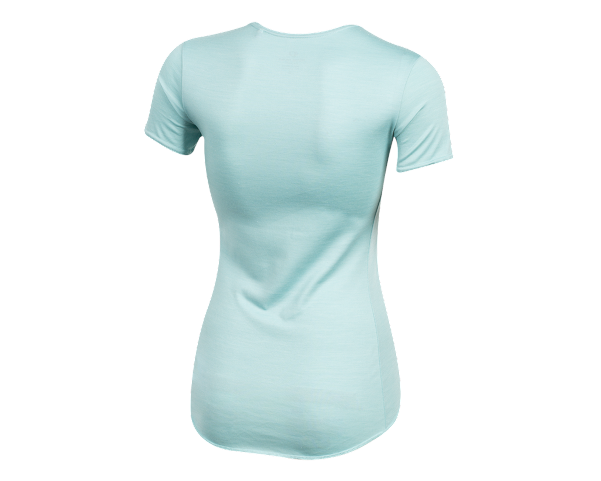 Pearl Izumi Women's Merino Short Sleeve Baselayer (Aquifer) (XL)