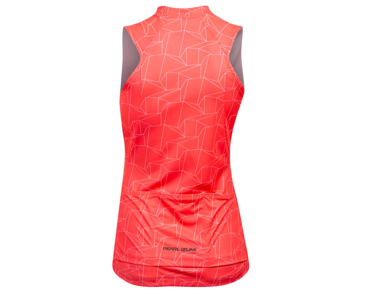 Image 2 for Pearl Izumi Women's Attack Sleeveless Jersey (Atomic Red/White Origmai) (S)