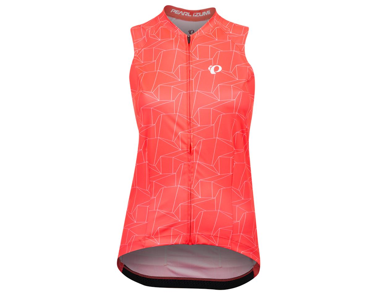 Image 1 for Pearl Izumi Women's Attack Sleeveless Jersey (Atomic Red/White Origmai) (XL)