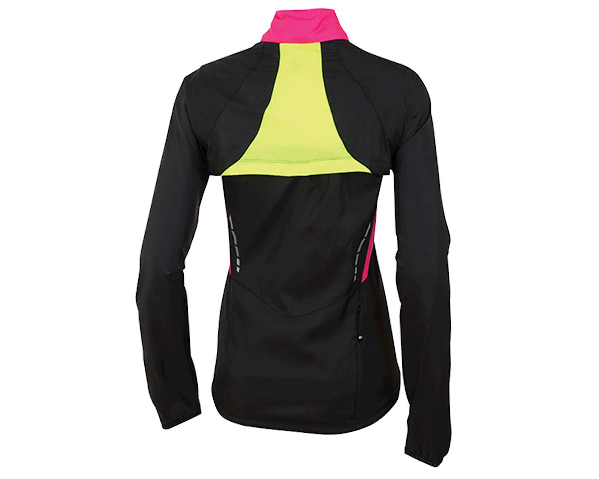Pearl Izumi Barrier Women's Convertible Bike Jacket (Black/Yellow/Pink) (L)